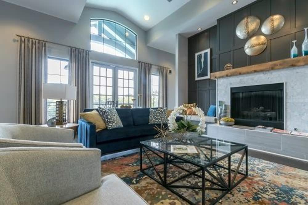 Spacious living room at McBee Station in Greenville, South Carolina