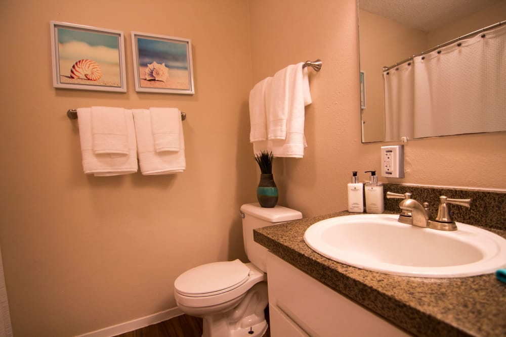 Spacious bathroom at The Palm on South Padre in Corpus Christi, Texas