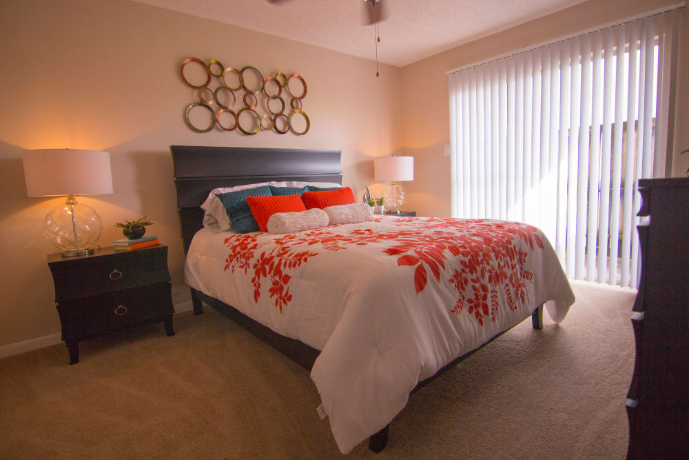 Spacious bedroom at The Palm on South Padre in Corpus Christi, Texas