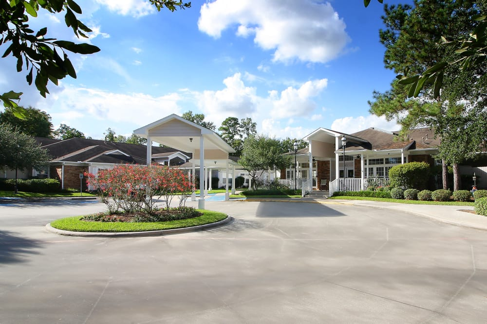 Entrance to Reunion Court of Kingwood in Kingwood, Texas