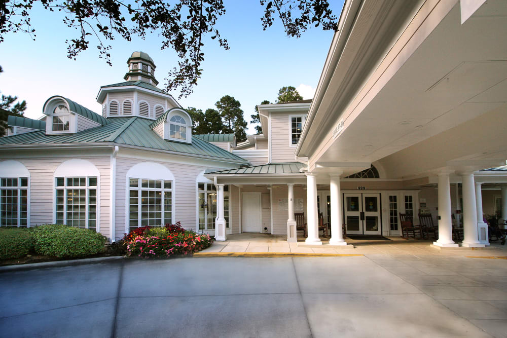 Entrance to our community at Reunion Court of Kingwood in Kingwood, Texas
