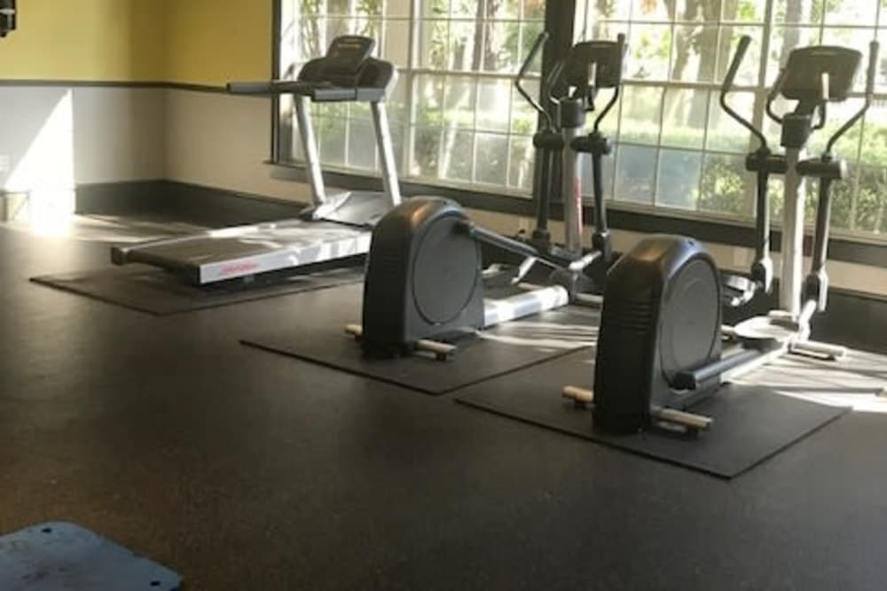 Fully equipped fitness center at Parc @ Champion Forest in Houston, Texas