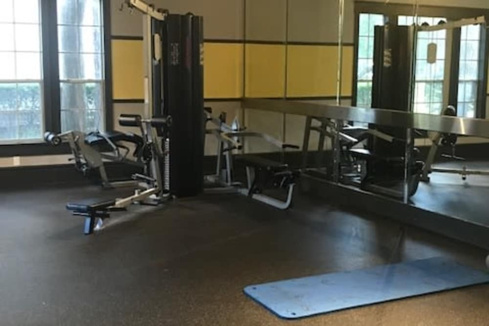 Fitness center for residents at Parc @ Champion Forest in Houston, Texas