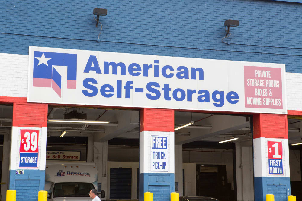 Covered loading at American Self Storage in Bronx, New York