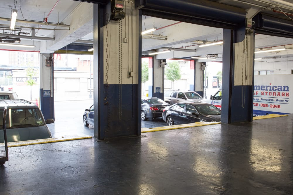 Clean loading dock area at American Self Storage in Bronx, New York
