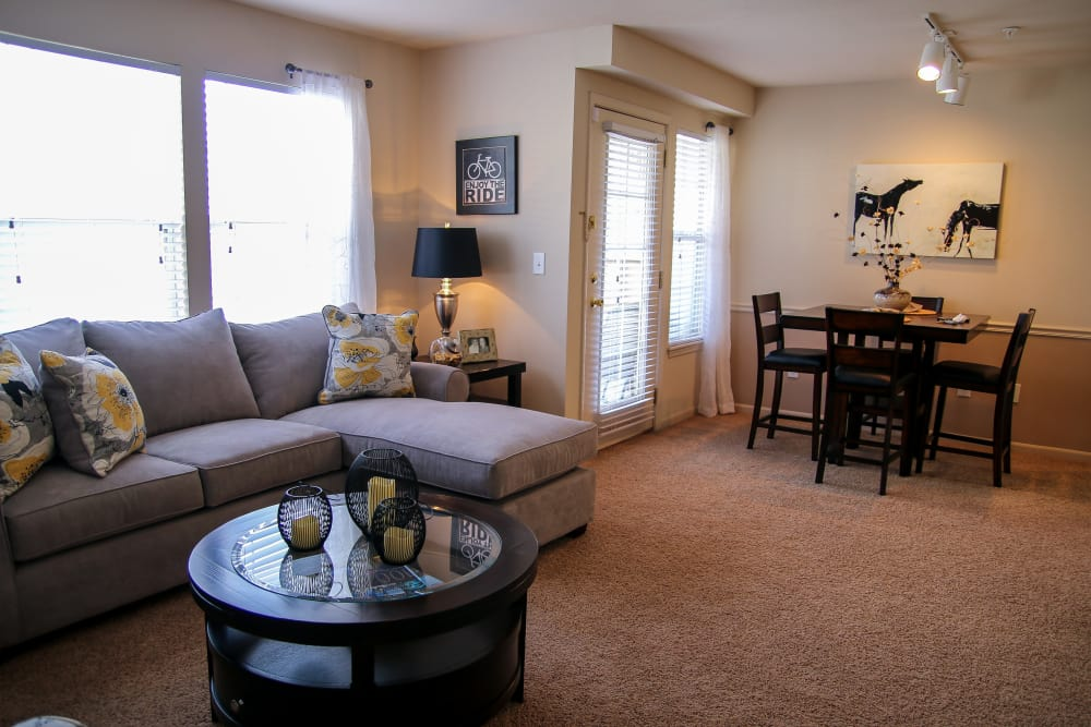 Wonderful living area at Winchester Apartments in Amarillo, Texas