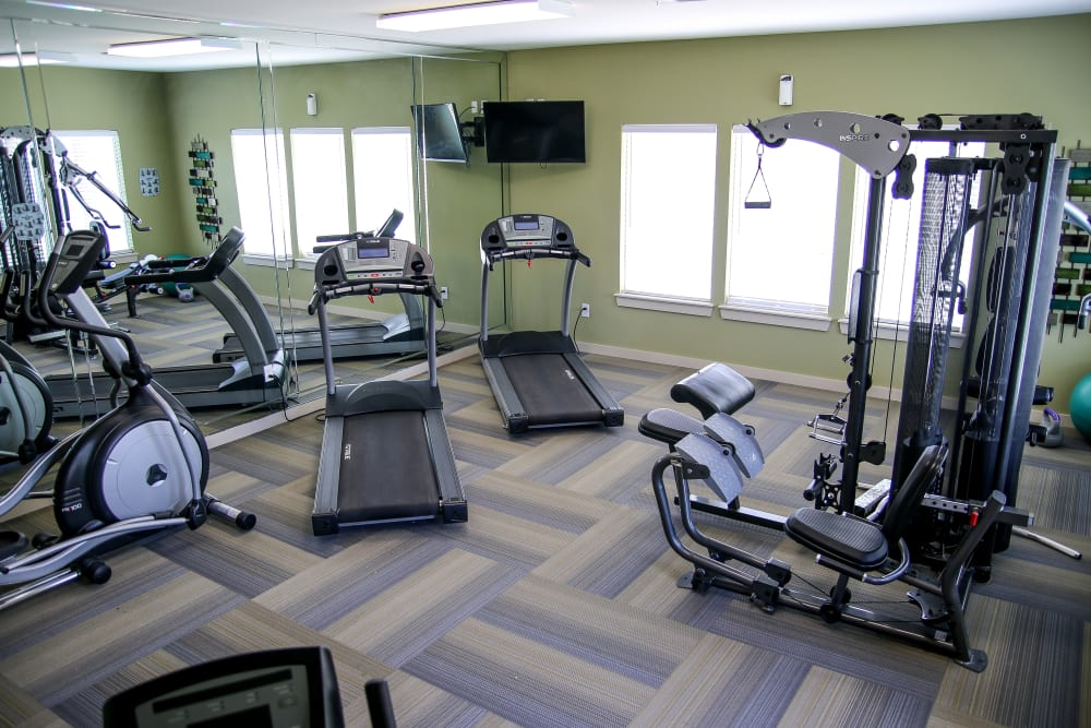 Winchester Apartments offers a fitness center for residents in Amarillo, Texas