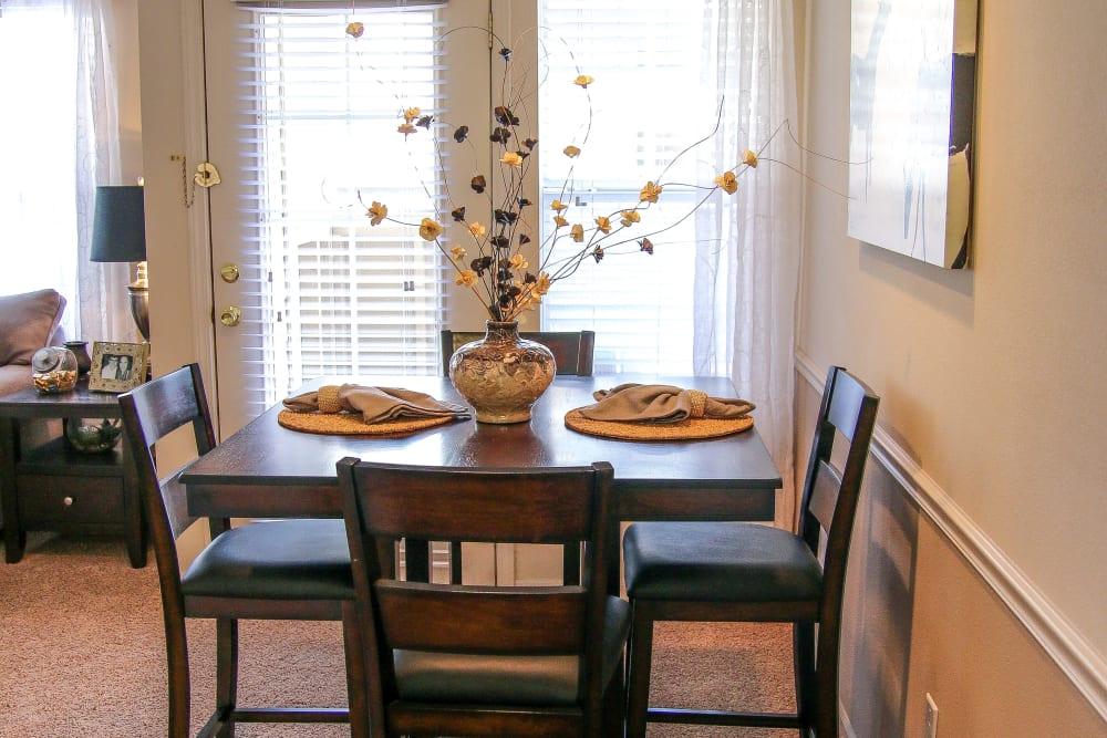 Dining area at Winchester Apartments in Amarillo, Texas