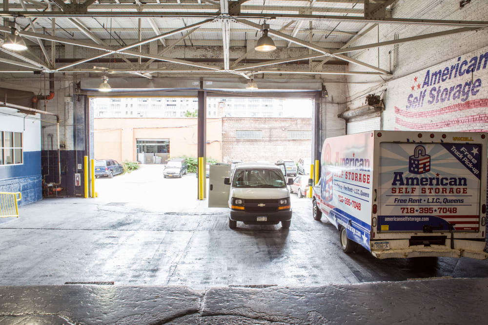 Covered loading at American Self Storage in Long Island City, New York