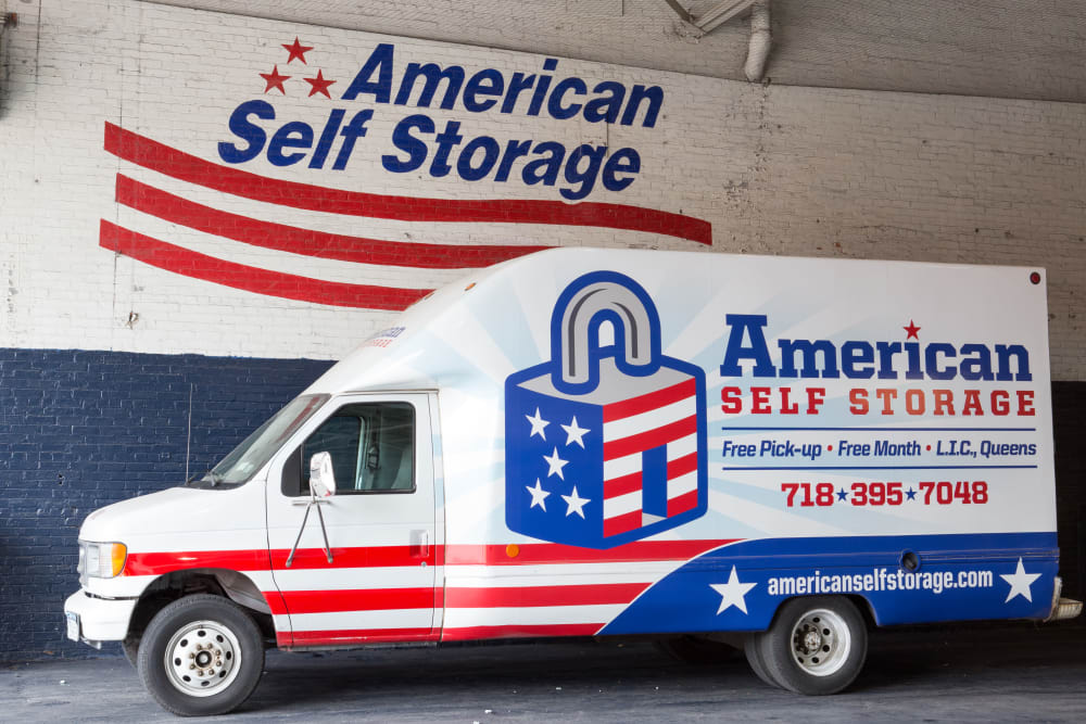 Moving truck available at American Self Storage in Long Island City, New York