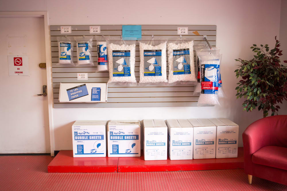 Supplies for sale at American Self Storage in Long Island City, New York