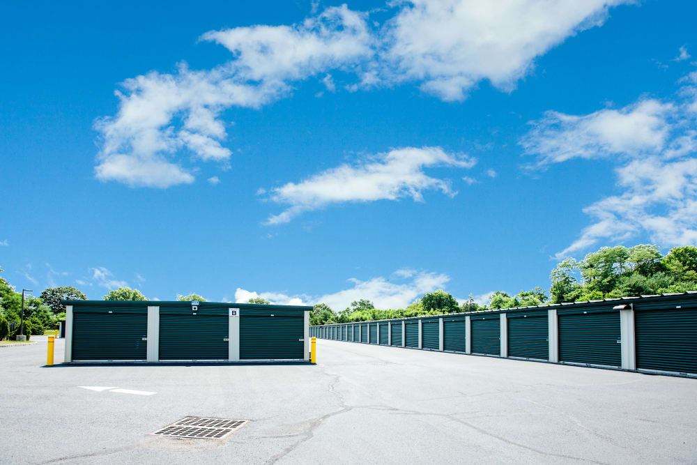 Wide driveways for easy storage access at American Self Storage in West Long Branch, New Jersey