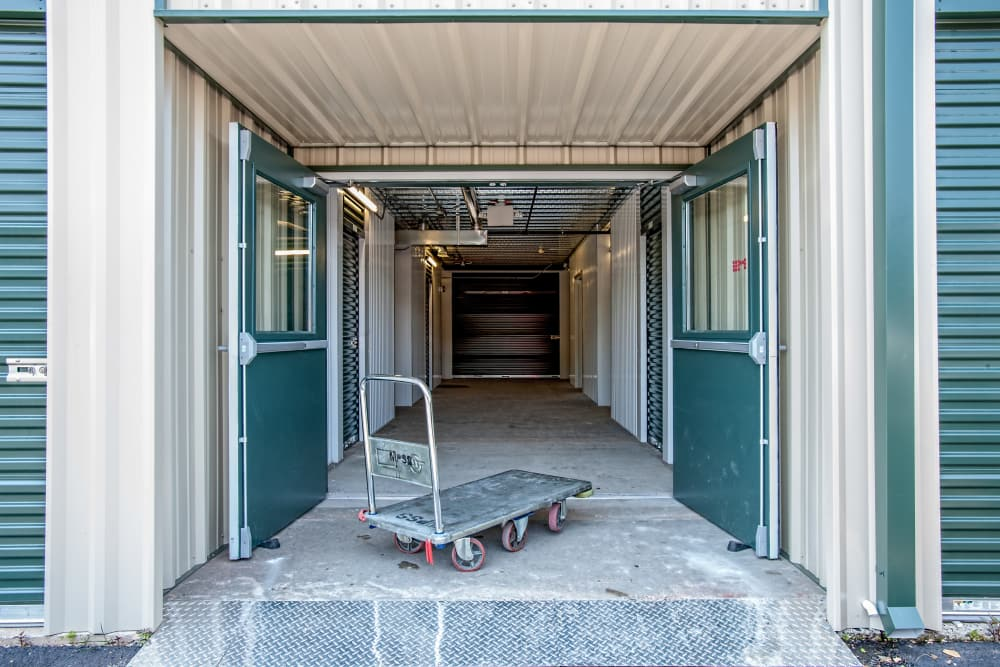 Interior units at American Self Storage in West Long Branch, New Jersey