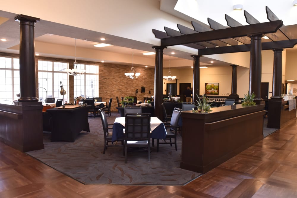 Community dining room at North River Health Campus in Evansville, Indiana