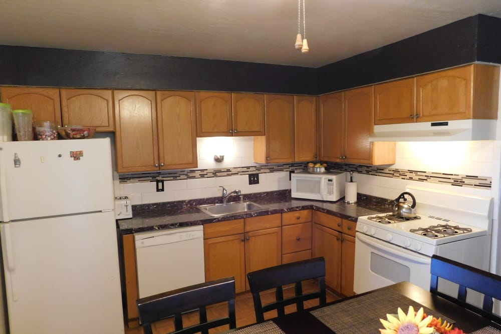 Beautiful kitchen at apartments in Antioch, California