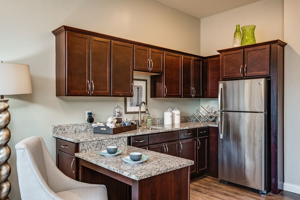 Kitchenette at Stonecrest of Meridian Hills in Indianapolis