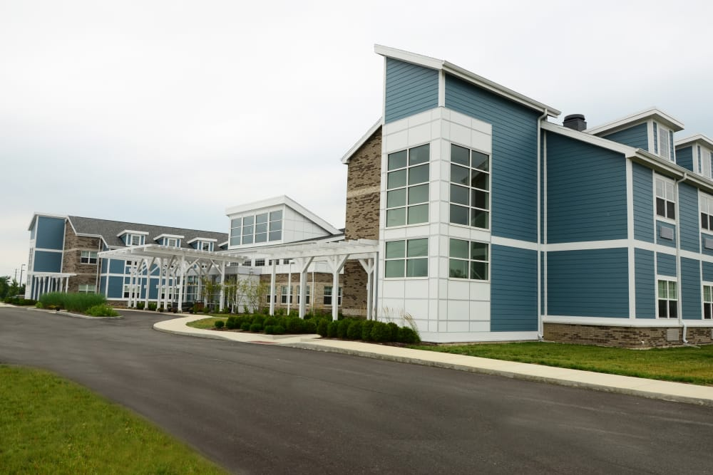 Building exterior and main entrance at Clearvista Lake Health Campus in Indianapolis, Indiana