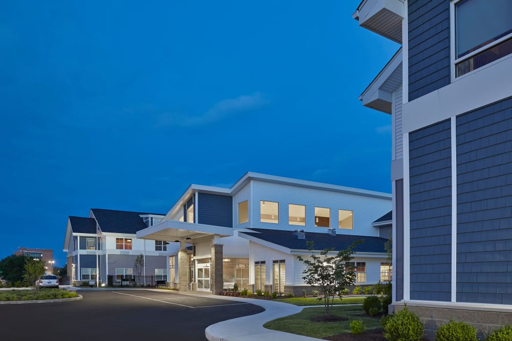 An evening view of Harrison's Crossing Health Campus in Terre Haute, Indiana
