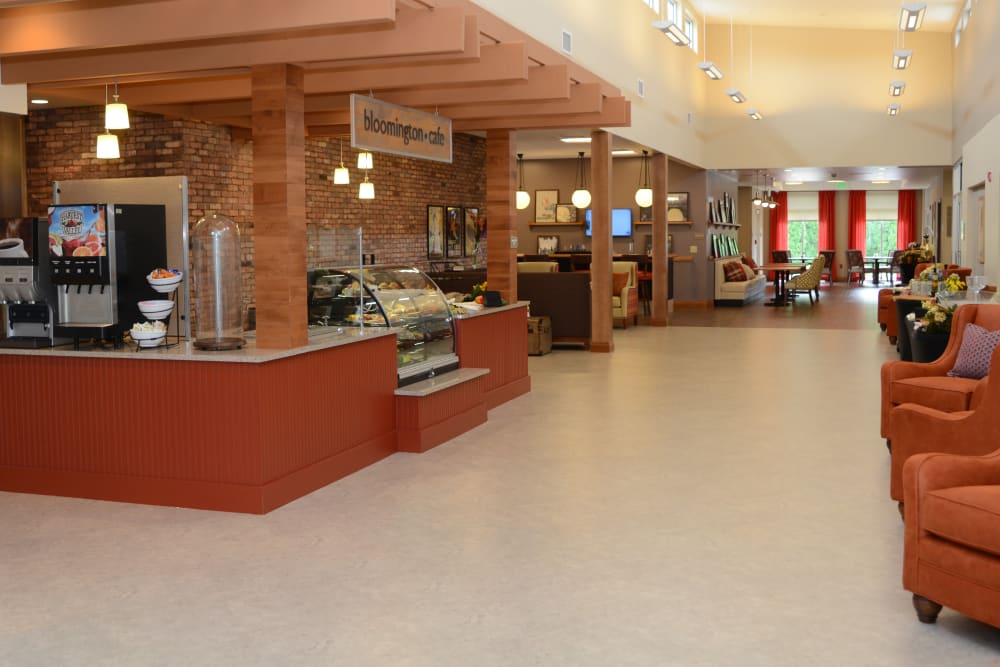 Community cafe for residents at Stonecroft Health Campus in Bloomington, Indiana