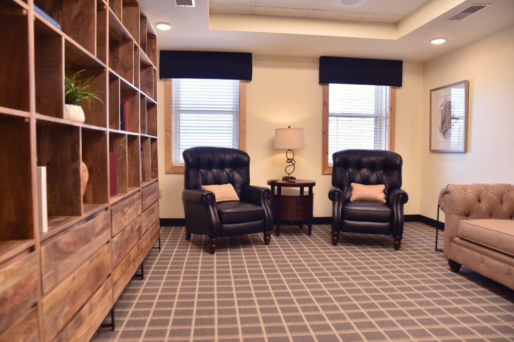 Quiet lounge for residents at The Willows at Harrodsburg in Harrodsburg, Kentucky
