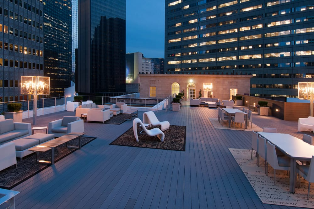 Roof top at 400 North Ervay in Dallas. Texas