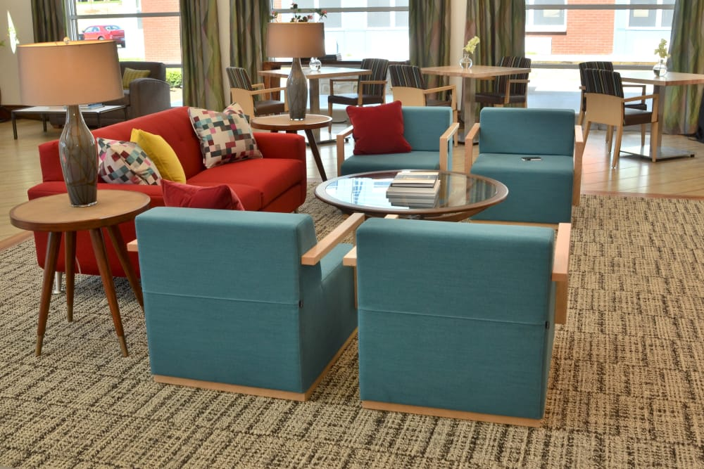 Comfortable seating at Wellbrooke of Carmel in Carmel, Indiana