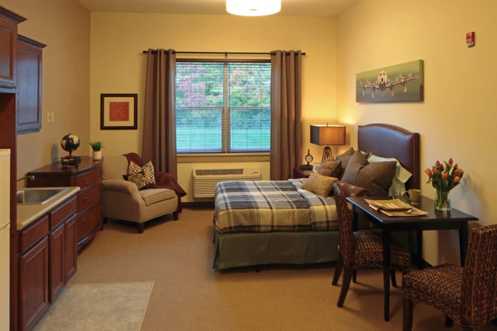 Cozy studio floor plan at Wellbrooke of Crawfordsville in Crawfordsville, Indiana