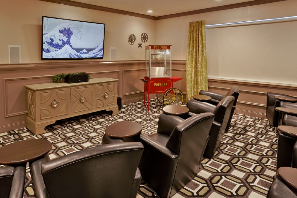 Entertainment area at Wellbrooke of South Bend in South Bend, Indiana