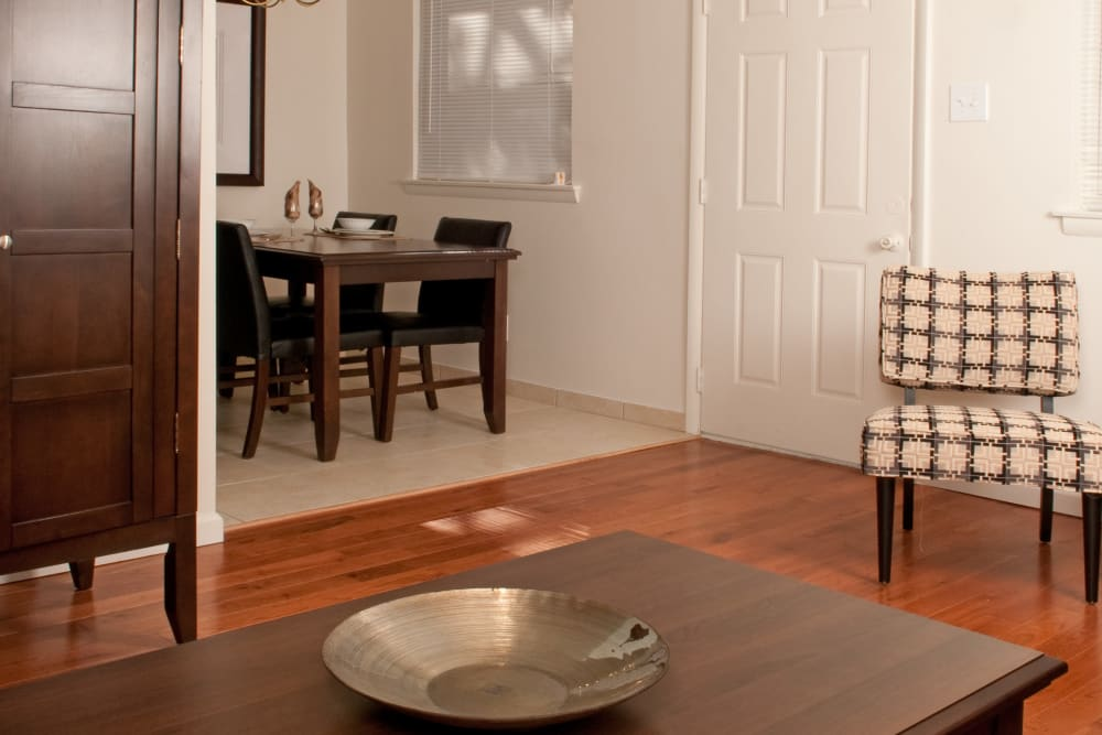 Spacious dining area at Jamestown Square Apartments in Blackwood, New Jersey