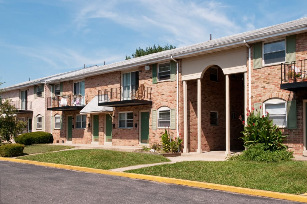 Apartment buildings at Jamestown Square Apartments in Blackwood, New Jersey