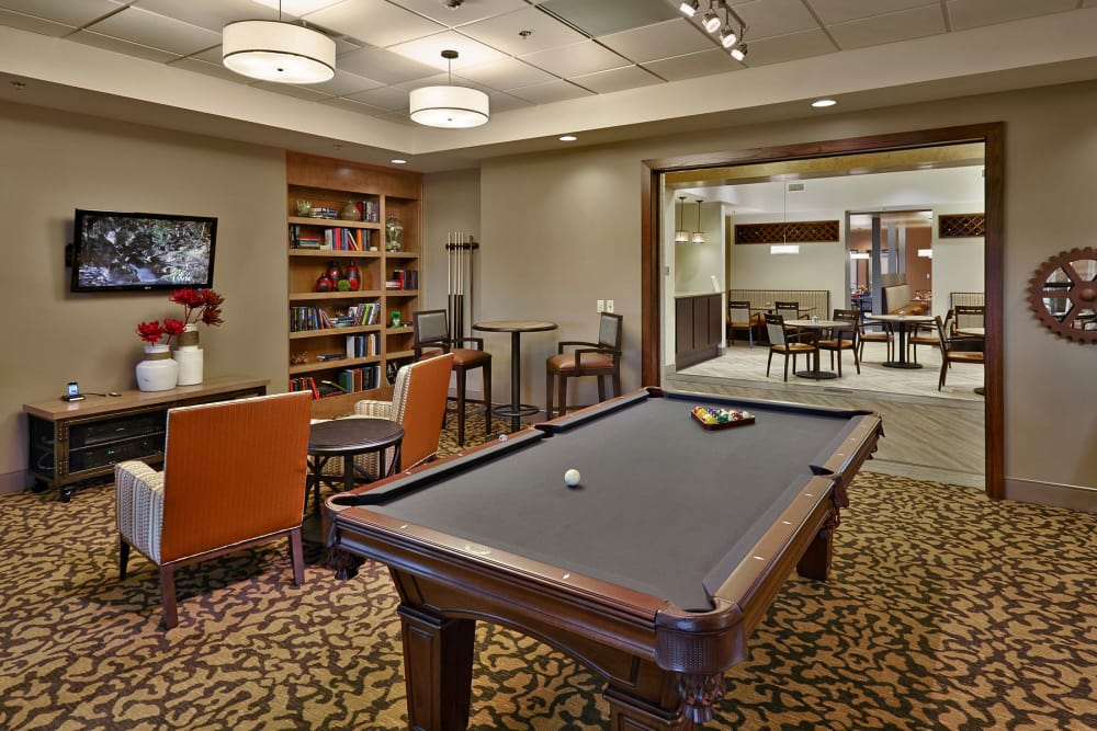 Billiards tale at Wellbrooke of Westfield in Westfield, Indiana