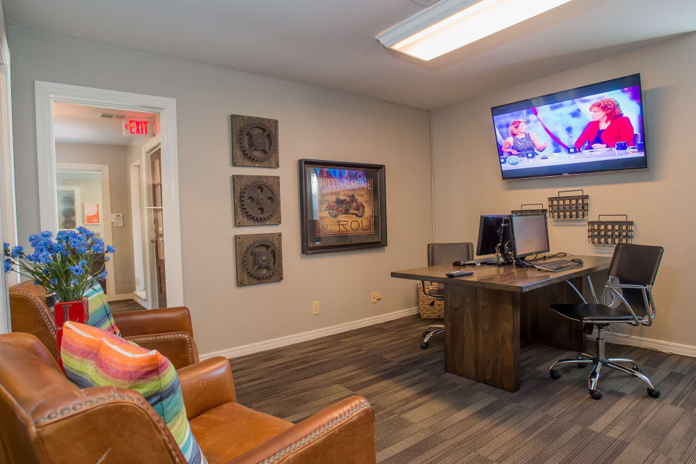 Business center at Barrington Apartments in Tulsa, Oklahoma