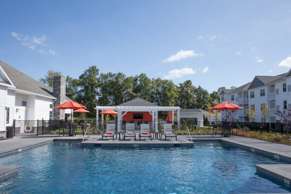Pool area at The Pointe at Dorset Crossing