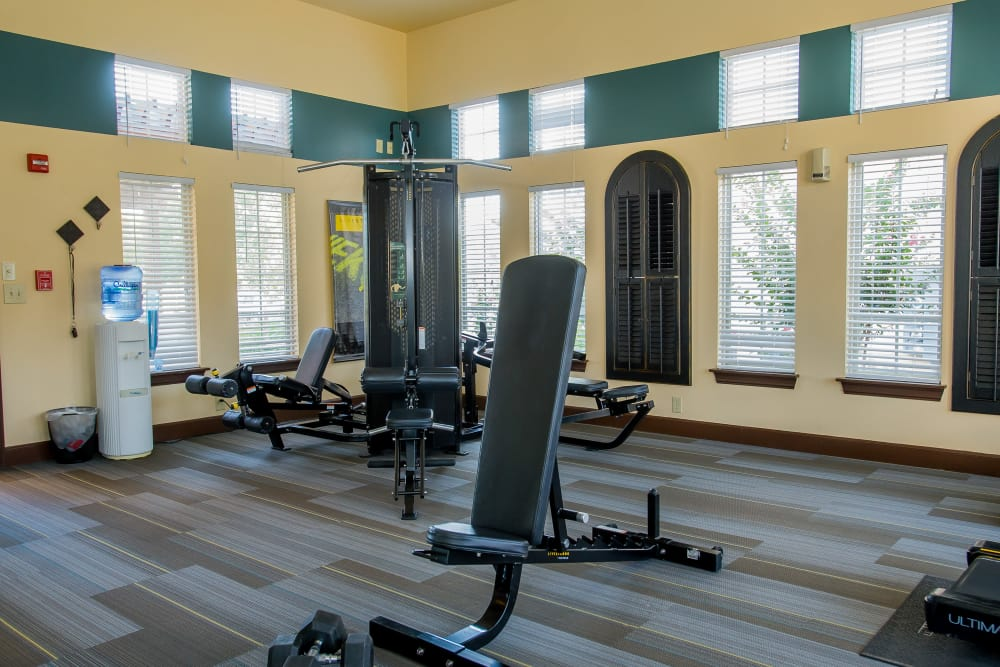 Coffee Creek Apartments offers a fitness center in Owasso, Oklahoma