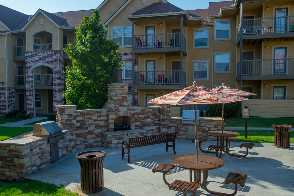 Coffee Creek Apartments offers an outdoor patio in Owasso, Oklahoma