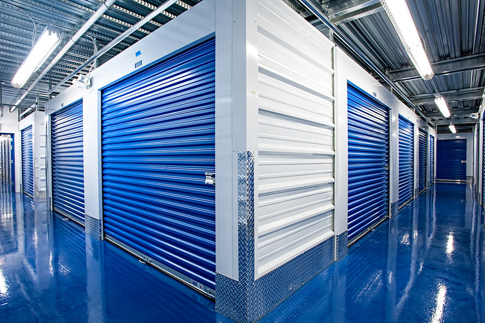 Interior units at American Self Storage in Cliffwood, New Jersey