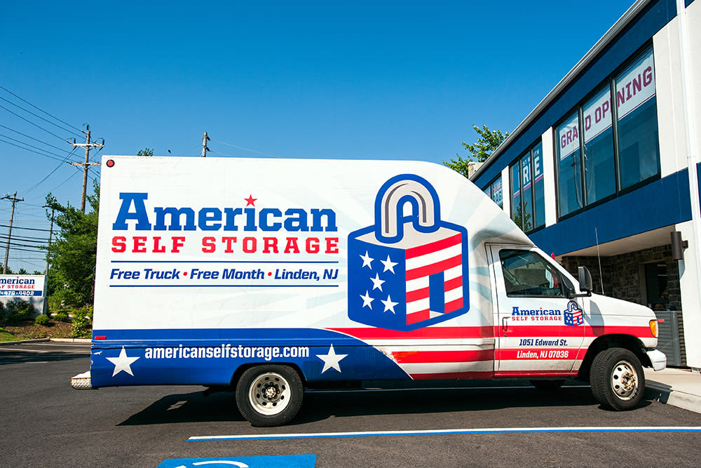 Self Storage Truck at American Self Storage in Cliffwood, New Jersey
