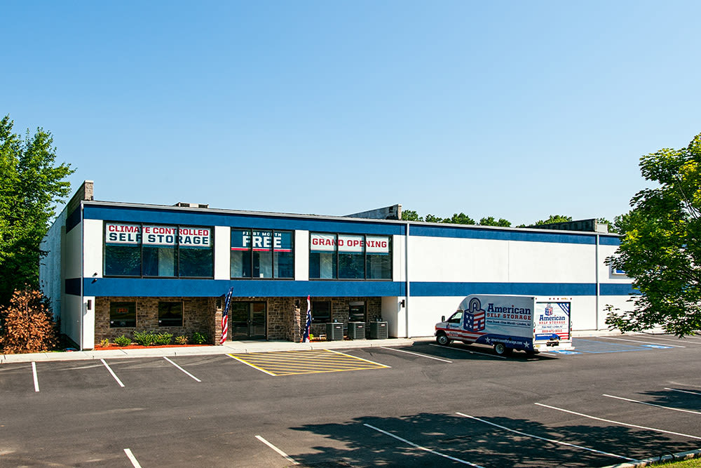 American Self Storage building front in Cliffwood, New Jersey