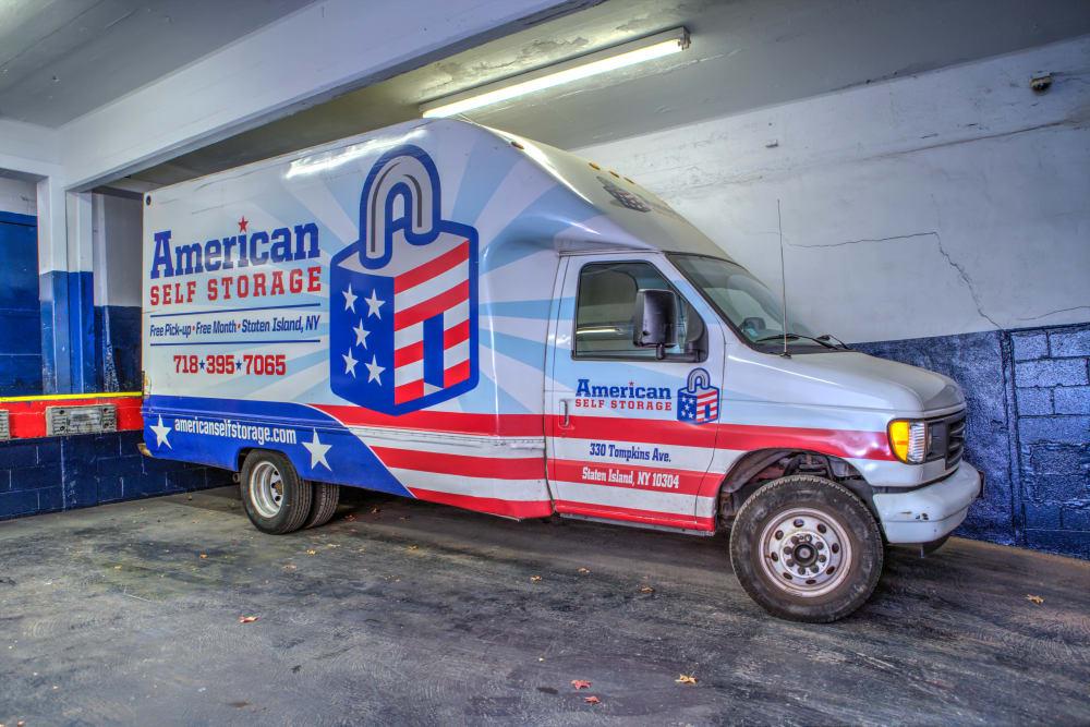 Loading truck at American Self Storage in Staten Island, New York