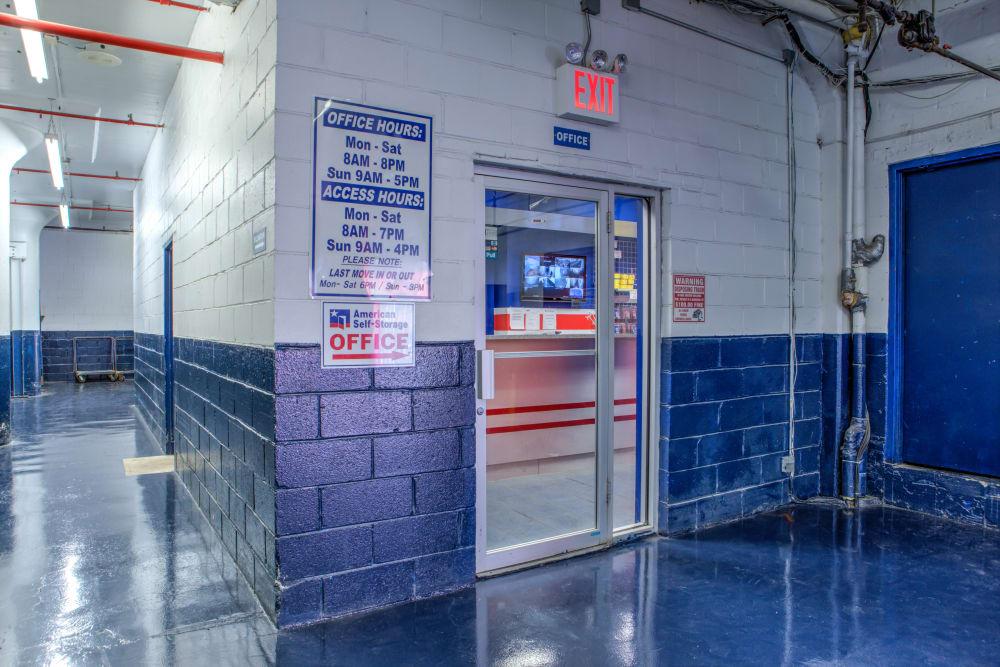 Storage Units Entrance at American Self Storage in Staten Island, New York