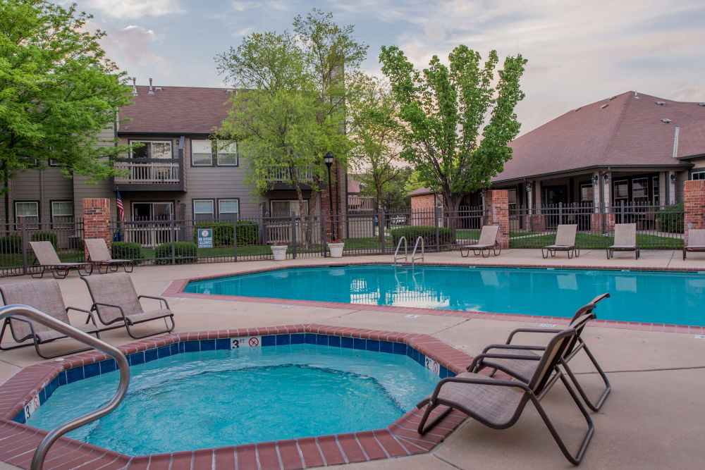 Huntington Park Apartments offers a swimming pool in Wichita, Kansas