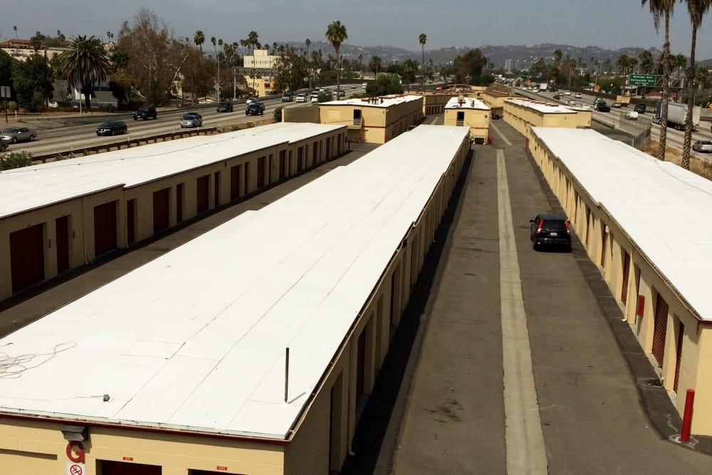Exterior units at BA Self Storage in Los Angeles, California