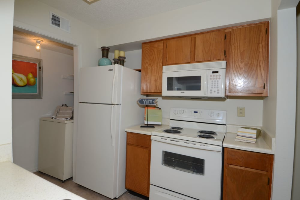 Newport Apartments offers fully equipped kitchens in Amarillo, Texas