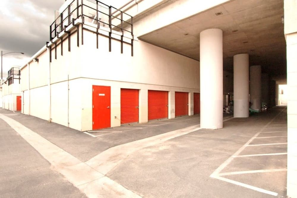 Exterior storage units at Fort Self Storage in Los Angeles, California