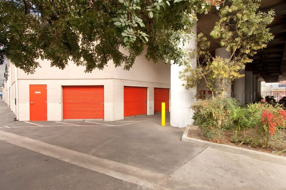 Exterior units at Fort Self Storage in Los Angeles, California