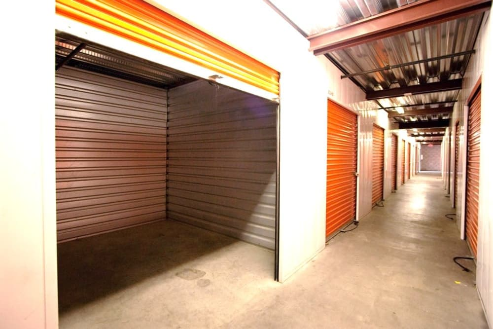 Interior storage example at Fort Self Storage in Los Angeles, California