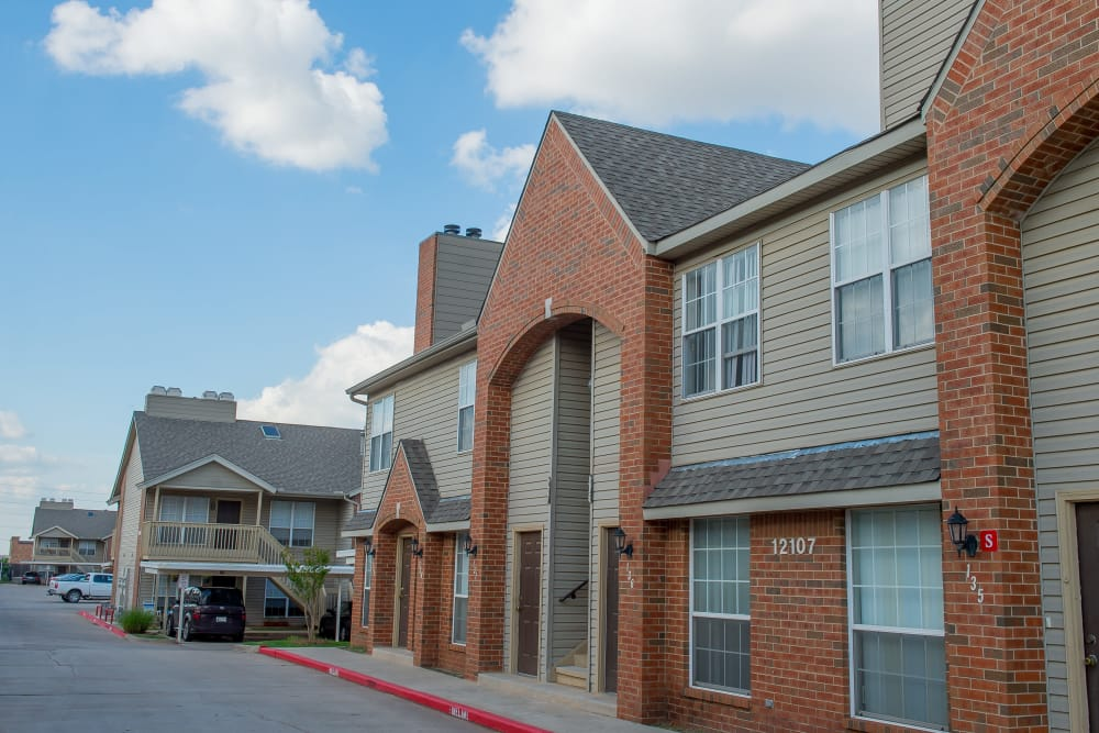 Persimmon Square Apartments' beautiful brick exterior in Oklahoma City, Oklahoma