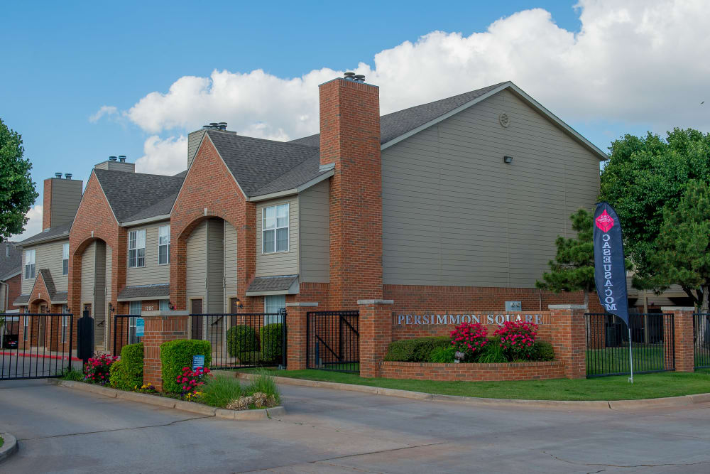 Gated community at Persimmon Square Apartments in Oklahoma City, Oklahoma