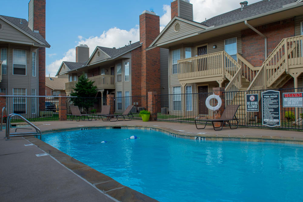 Persimmon Square Apartments offers a swimming pool in Oklahoma City, Oklahoma