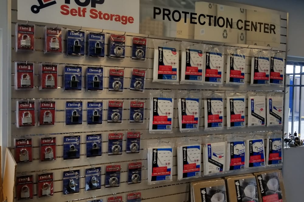 All of your storage protection needs at Top Self Storage